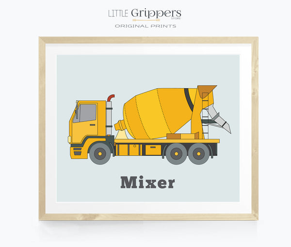 Cement Truck Printable