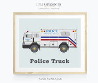 Police vehicle wall art set for kids