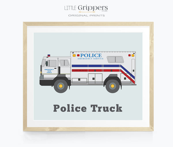 Police Truck wall art