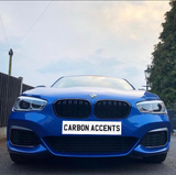 1 Series - F20/F21 LCI: Gloss Black Grill Double Slate - Carbon Accents