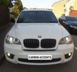 X5/X6 - E70/E71: Gloss Black Single Slate Grill 2008-2013 - Carbon Accents