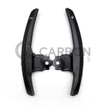 F/M Series: Black Aluminium Paddle Shifters - Carbon Accents