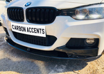 3 Series - F30: Gloss Black M Performance Splitter - Carbon Accents