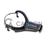 Carbon Fibre M-Performance Steering Wheel Trim (Blue) - M Series - Carbon Accents