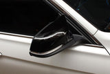 M Style Gloss Black Wing Mirror Cover -  1 Series/2 Series/3 Series/4 Series - Carbon Accents
