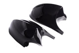 E8X E9X - Facelift: Gloss Black Wing Mirrors - Carbon Accents