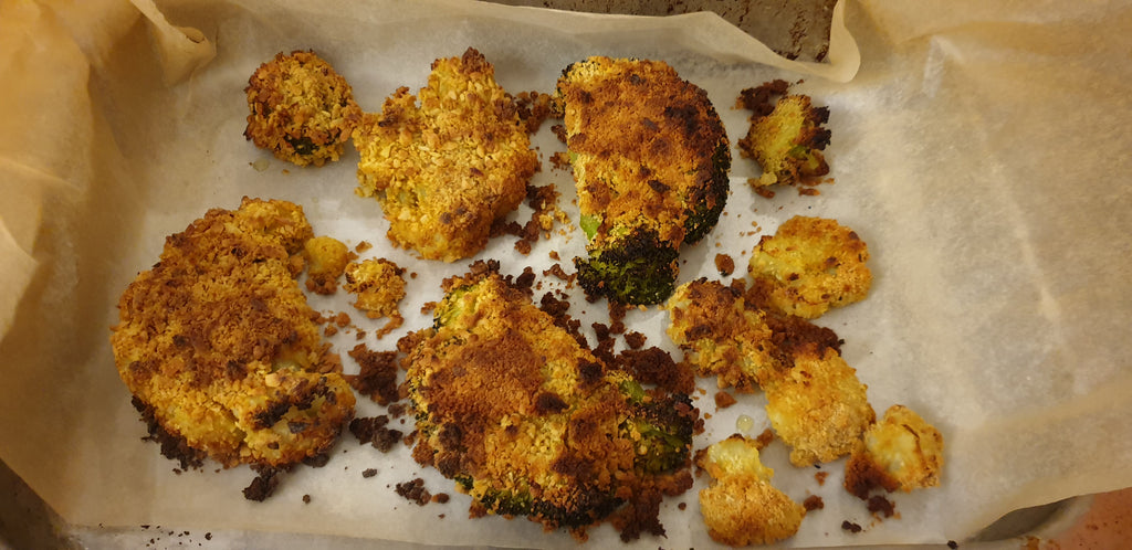 Crispy Nut-Encrusted Cauliflower Slices