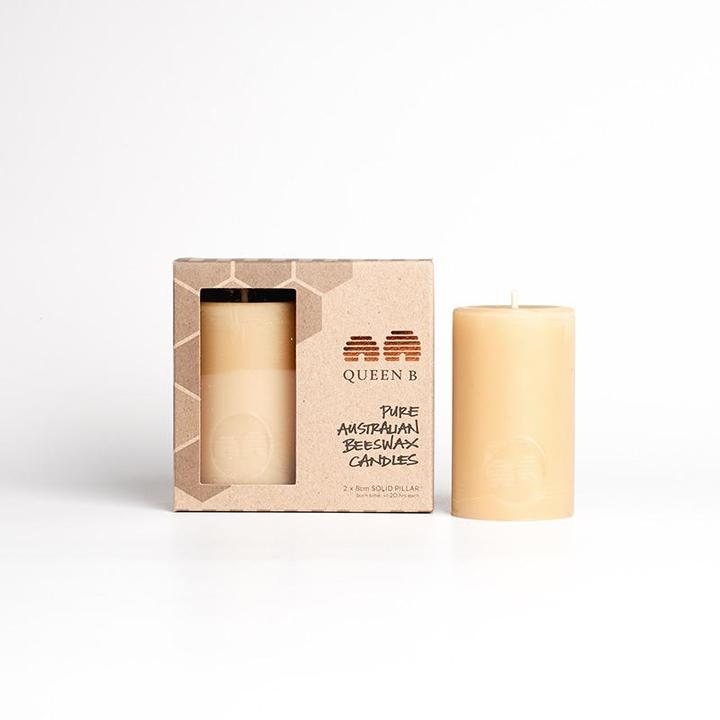Queen B Pillar Candles 8cm