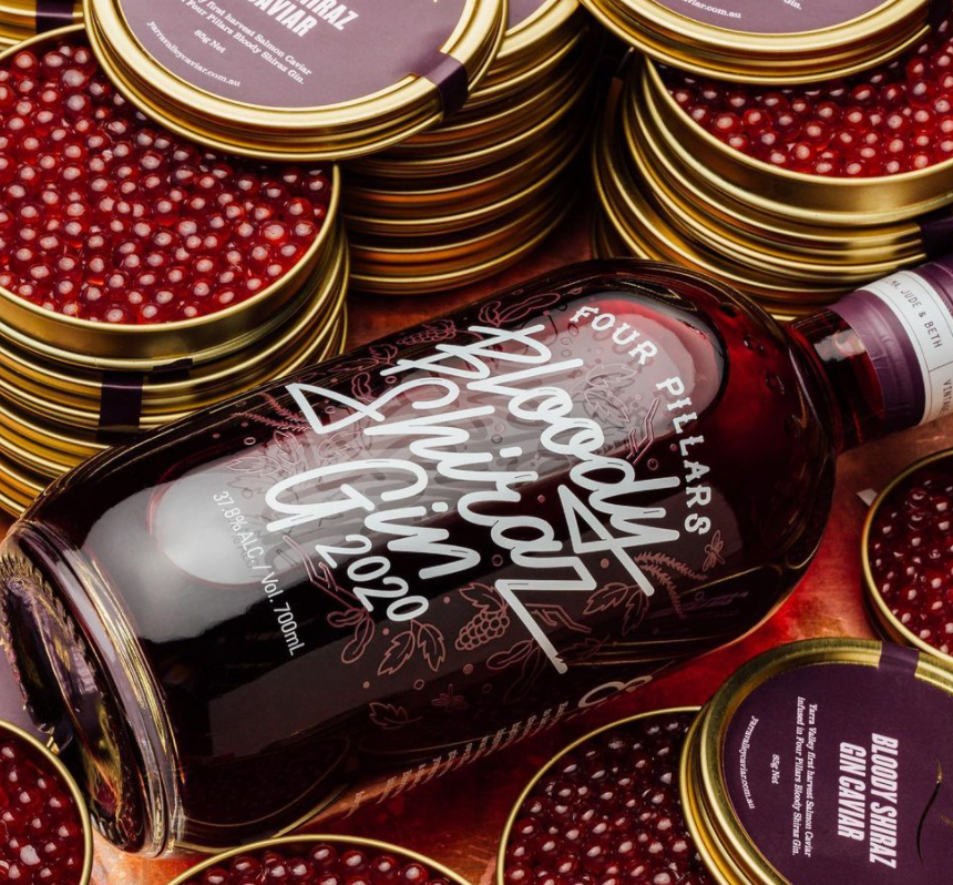 Yarra Valley Bloody Shiraz Gin Caviar