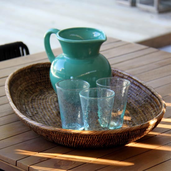 Rattan Oval Trays