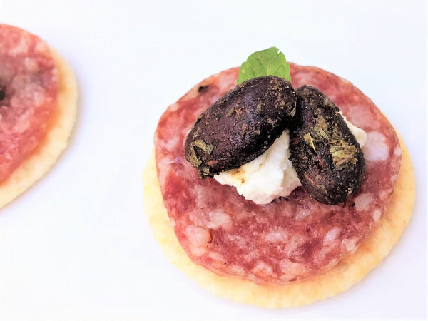 Salami and Goat Cheese with Joy