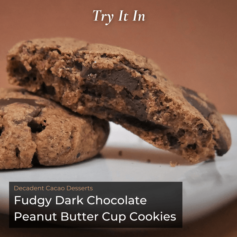 Cacao Desserts Fudgy Dark Chocolate Peanut Butter Cup Cookies Recipe