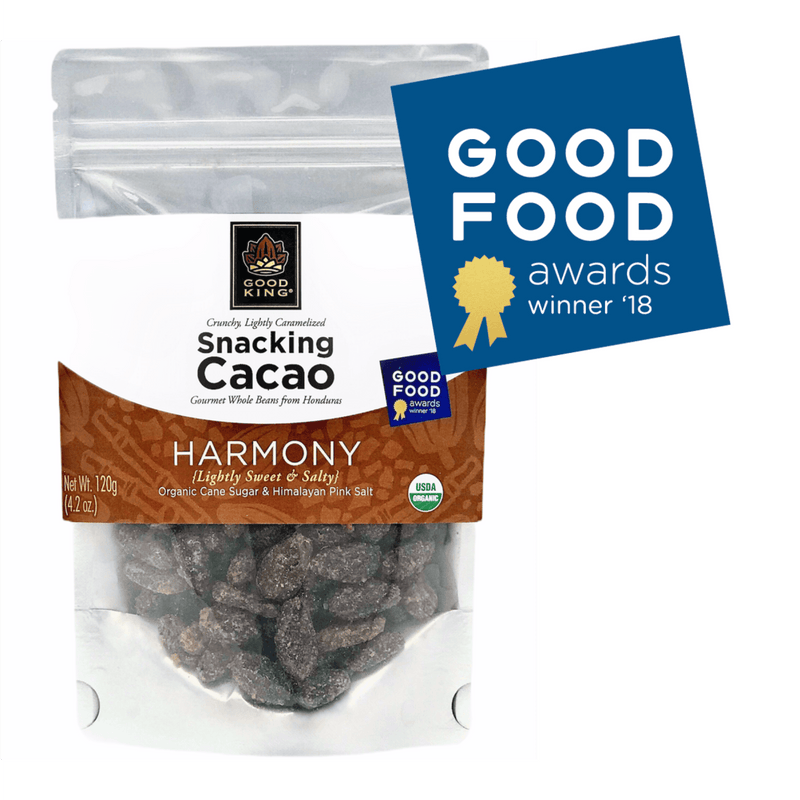 Good King Harmony Organic Snacking Cacao Lightly Sweet & Salty Good Food Award Winner