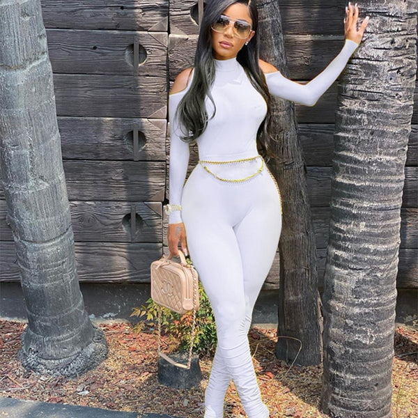 Bandage Long Sleeve Jumpsuit - Classy Ladi Couture