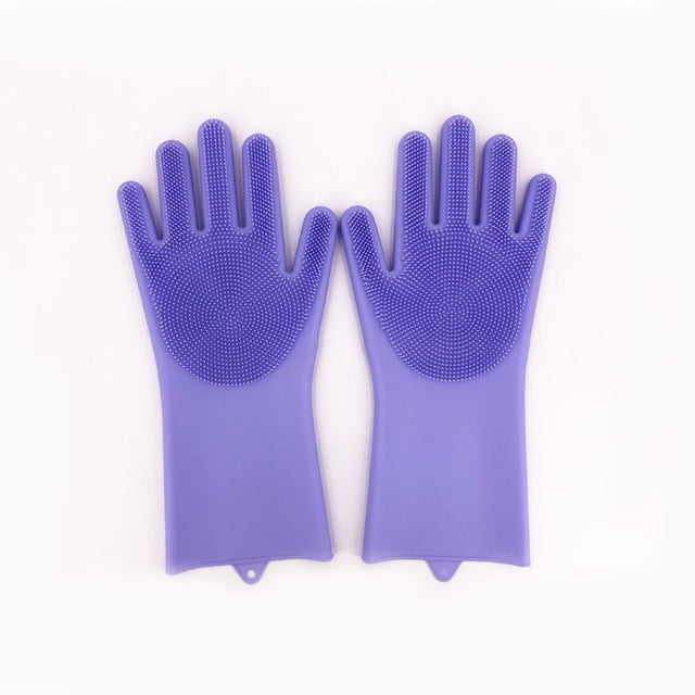 Scrubbing Rubber Cleaning Gloves
