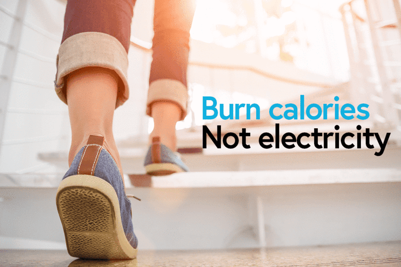 On National Take The Stairs Day, We Burn Calories Not Electricity