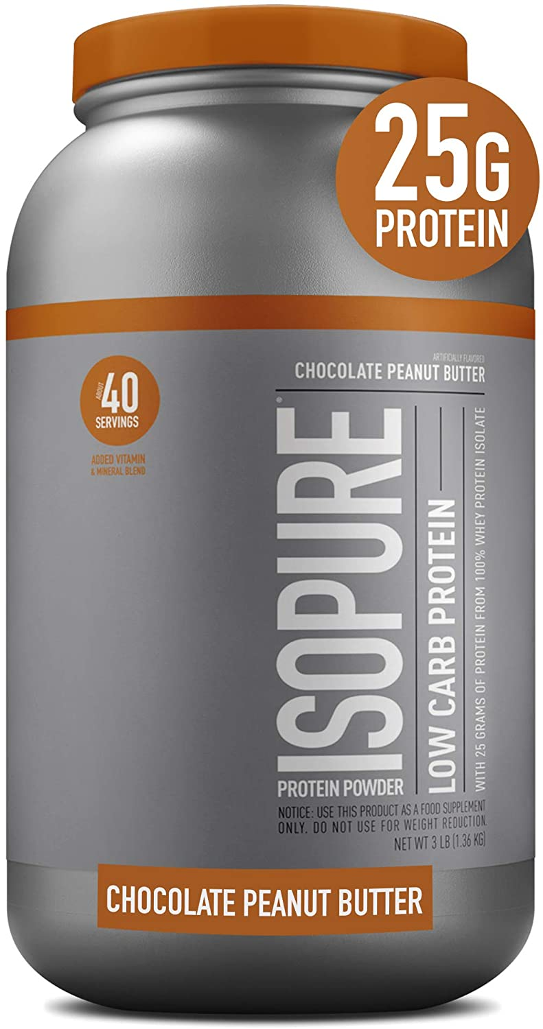 25g Protein, Keto Friendly Protein Powder, 100% Whey Protein Isolate, Flavor: Dutch Chocolate, 3 Pounds