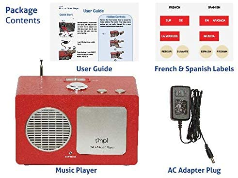 SMPL One-Touch Music & Radio Center. The Gift of Music Made smpl with The Entertainment Center. Includes 75 Nostalgic Hits. Eases Caregiver Stress