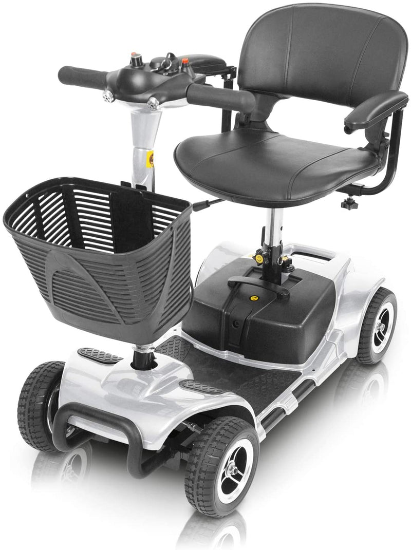 Vive 4 Wheel Mobility Scooter - Electric Powered Wheelchair Device - Compact Heavy Duty Mobile for Travel, Adults, Elderly