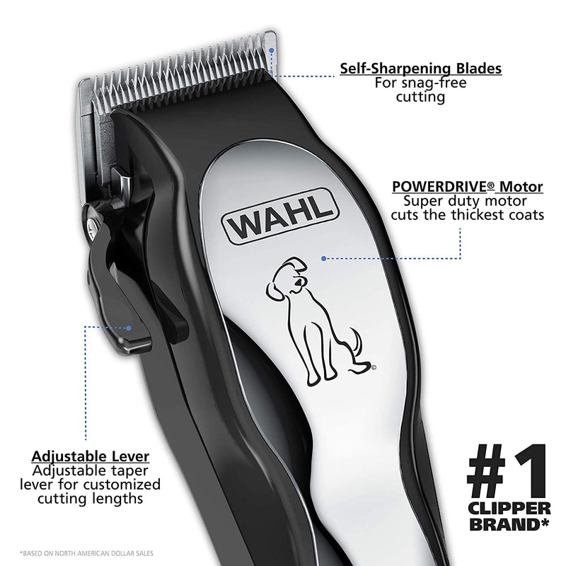 Wahl Clipper Pet-Pro Dog Grooming Kit - Quiet Heavy-Duty Electric Corded Dog Clipper for Dogs & Cats with Thick & Heavy Coats - Model 9281-210
