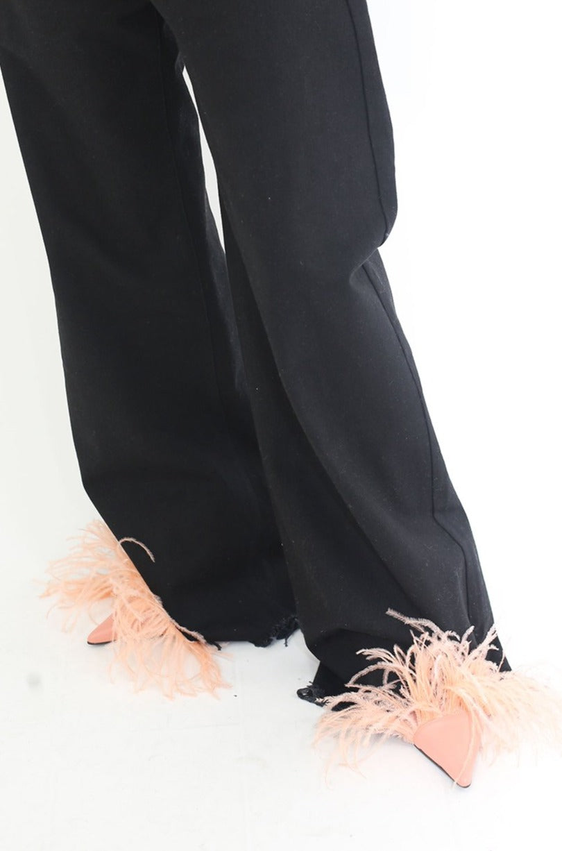 PINK FEATHER SLIPPERS - marques-almeida-dev