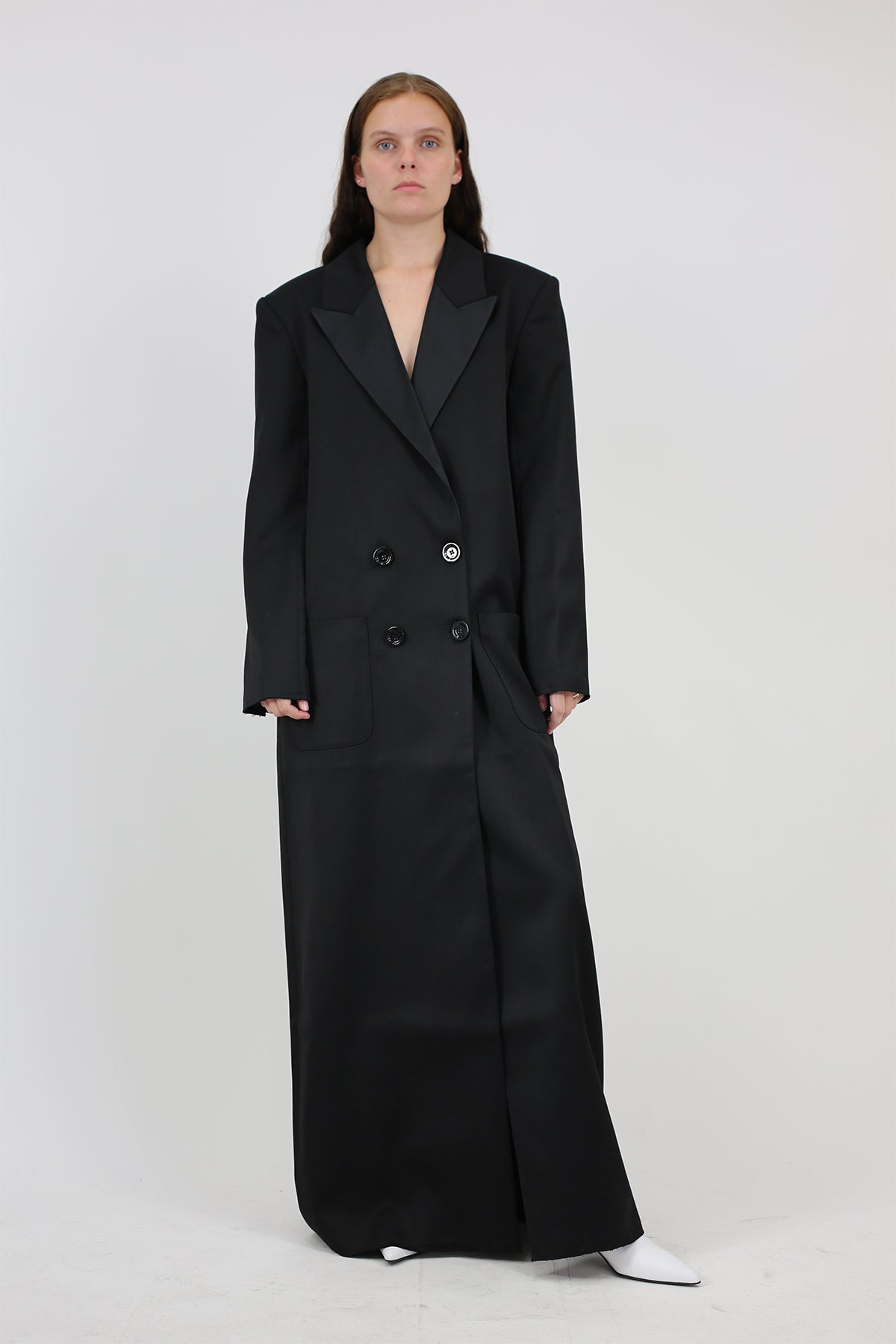 PRE-OWNED / BLACK LONG TUXEDO COAT - marques-almeida-dev