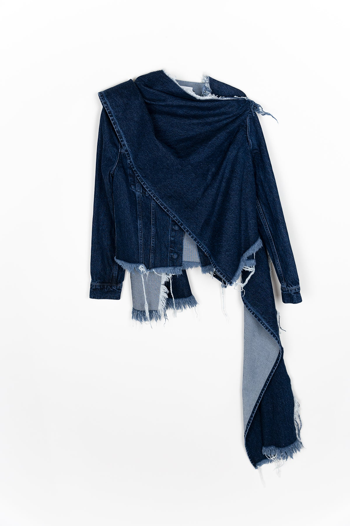 INDIGO DENIM SCARF JACKET