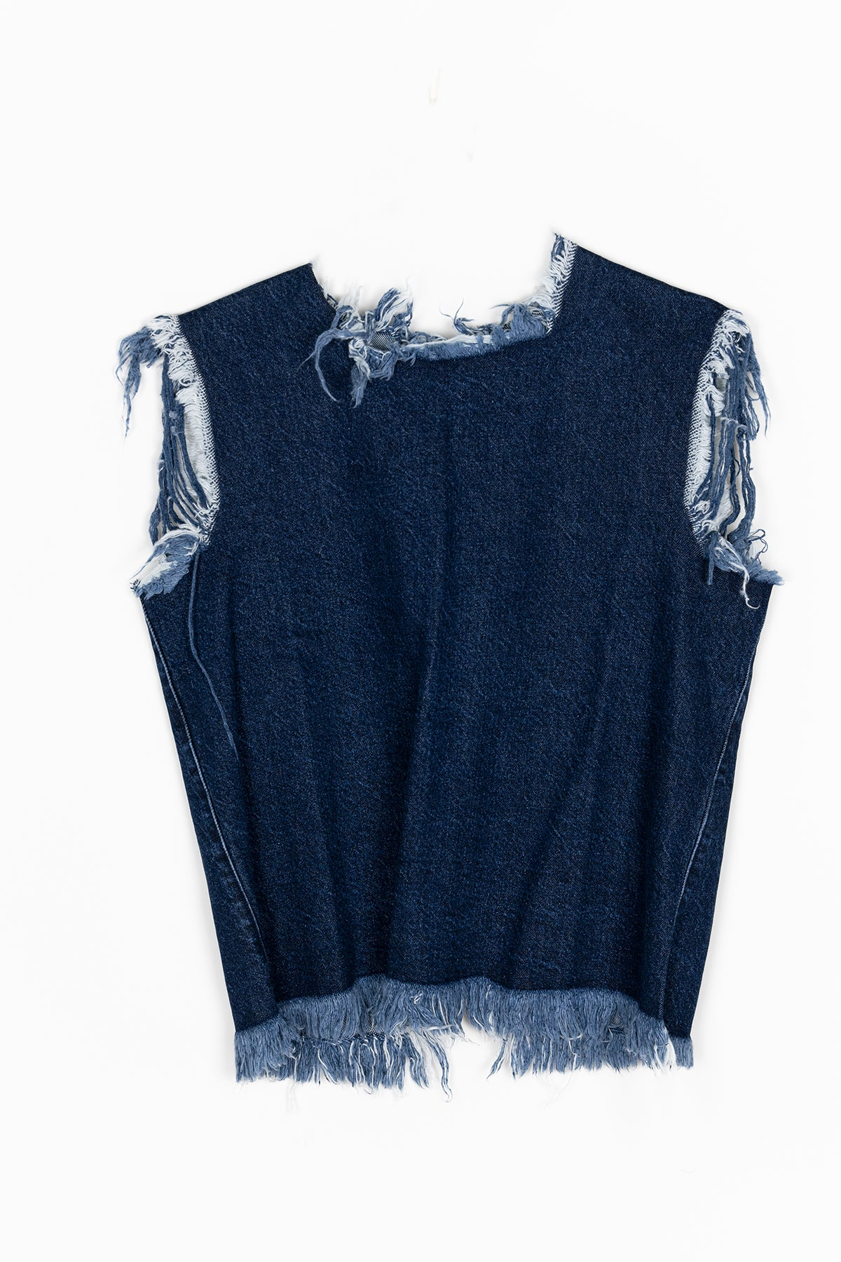 DENIM OPEN BACK TOP