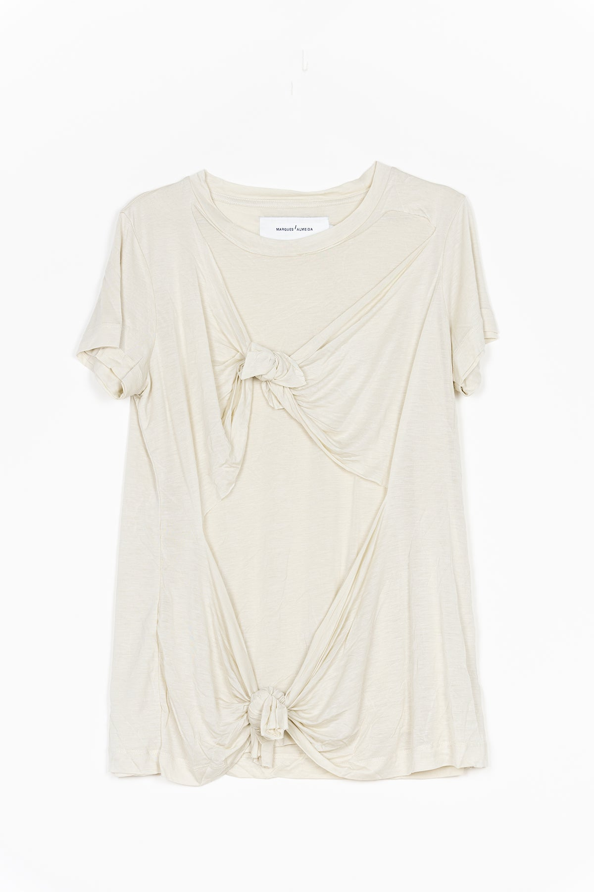 marques almeida BEIGE DOUBLE KNOT T-SHIRT