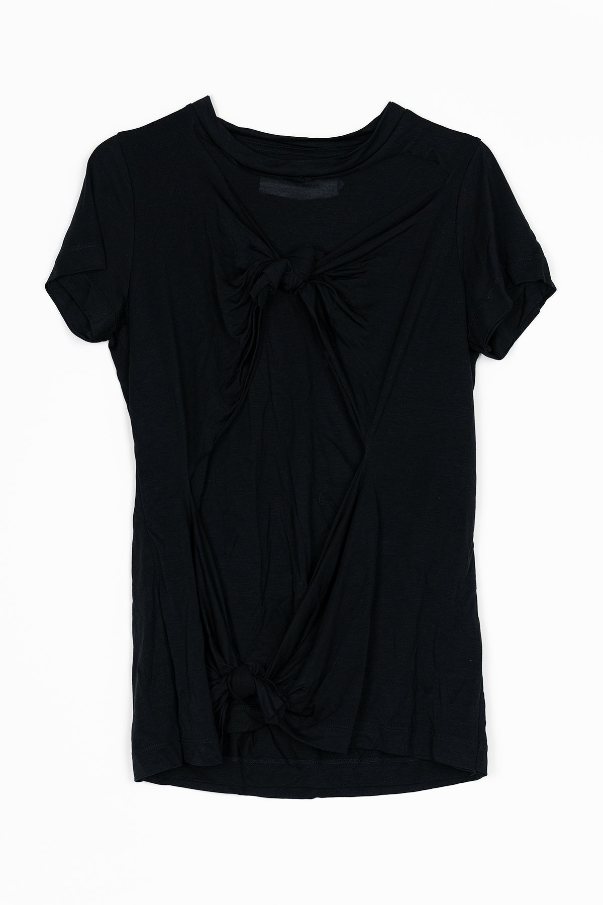 BLACK DOUBLE KNOT T-SHIRT