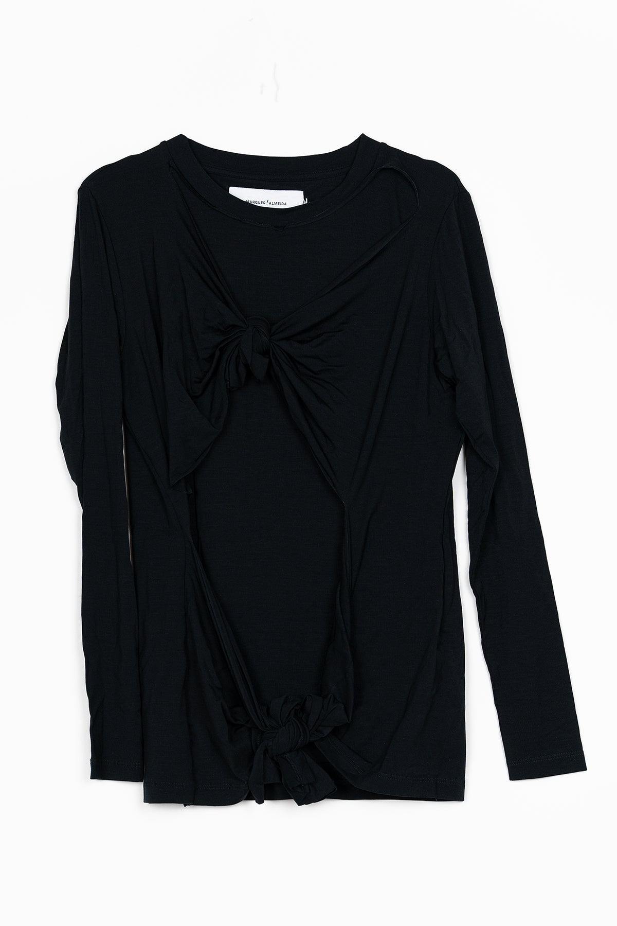 BLACK DOUBLE KNOT LONG SLEEVE T-SHIRT  marques almeida
