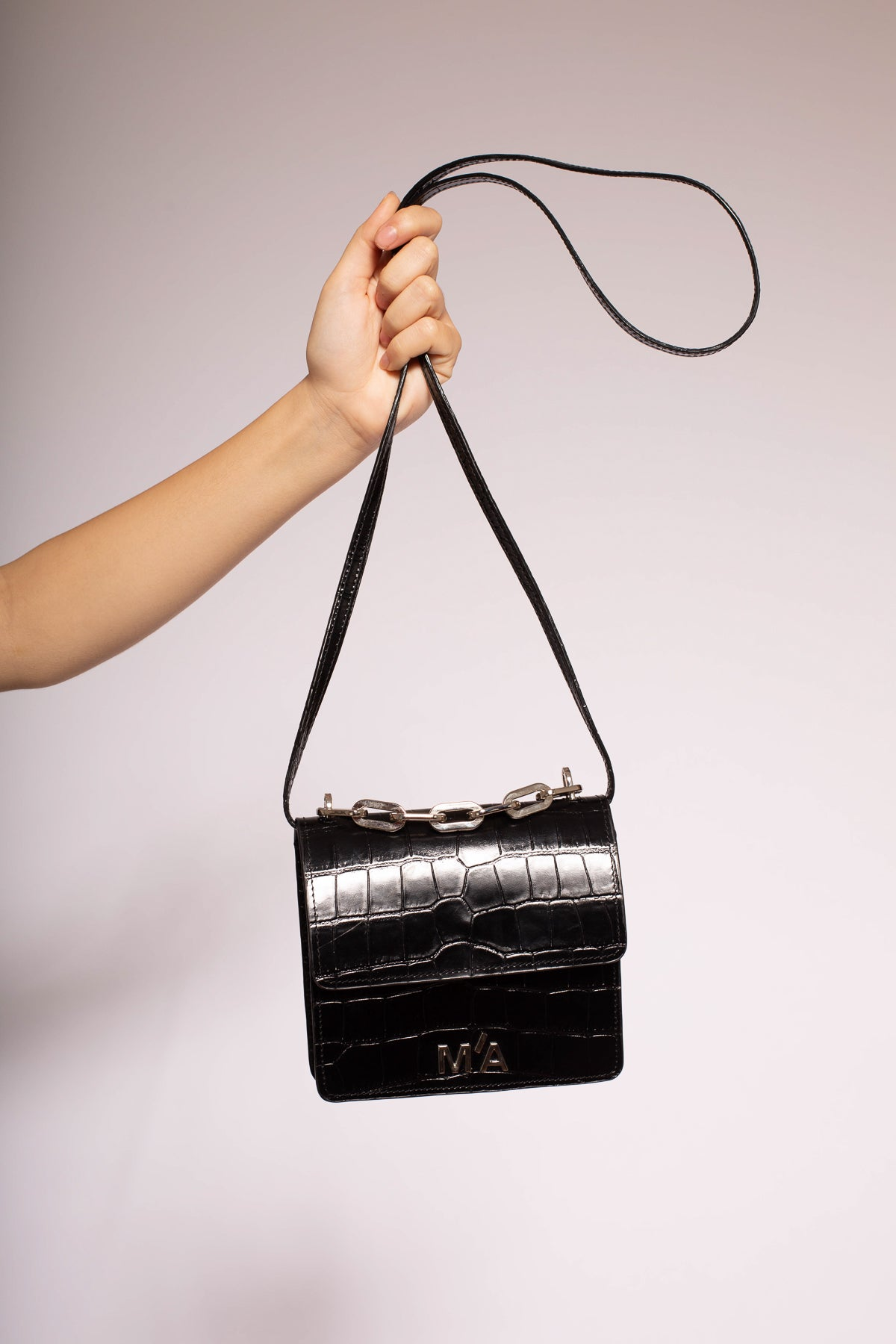 MINI CHAIN BAG IN BLACK - marques-almeida-dev