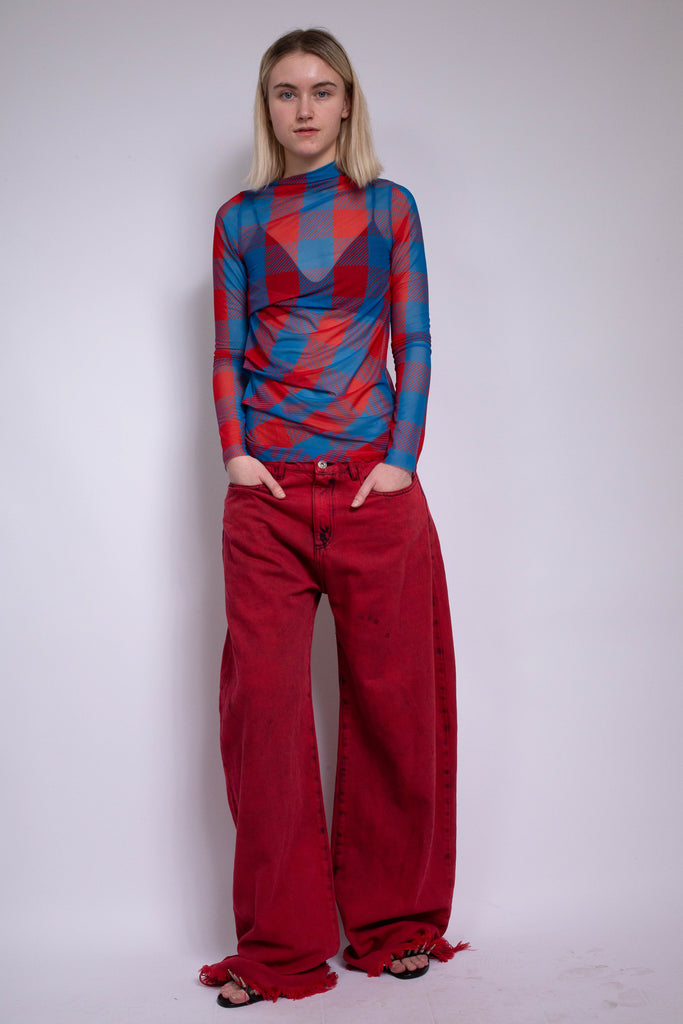 RED BOYFRIEND JEANS - marques-almeida-dev
