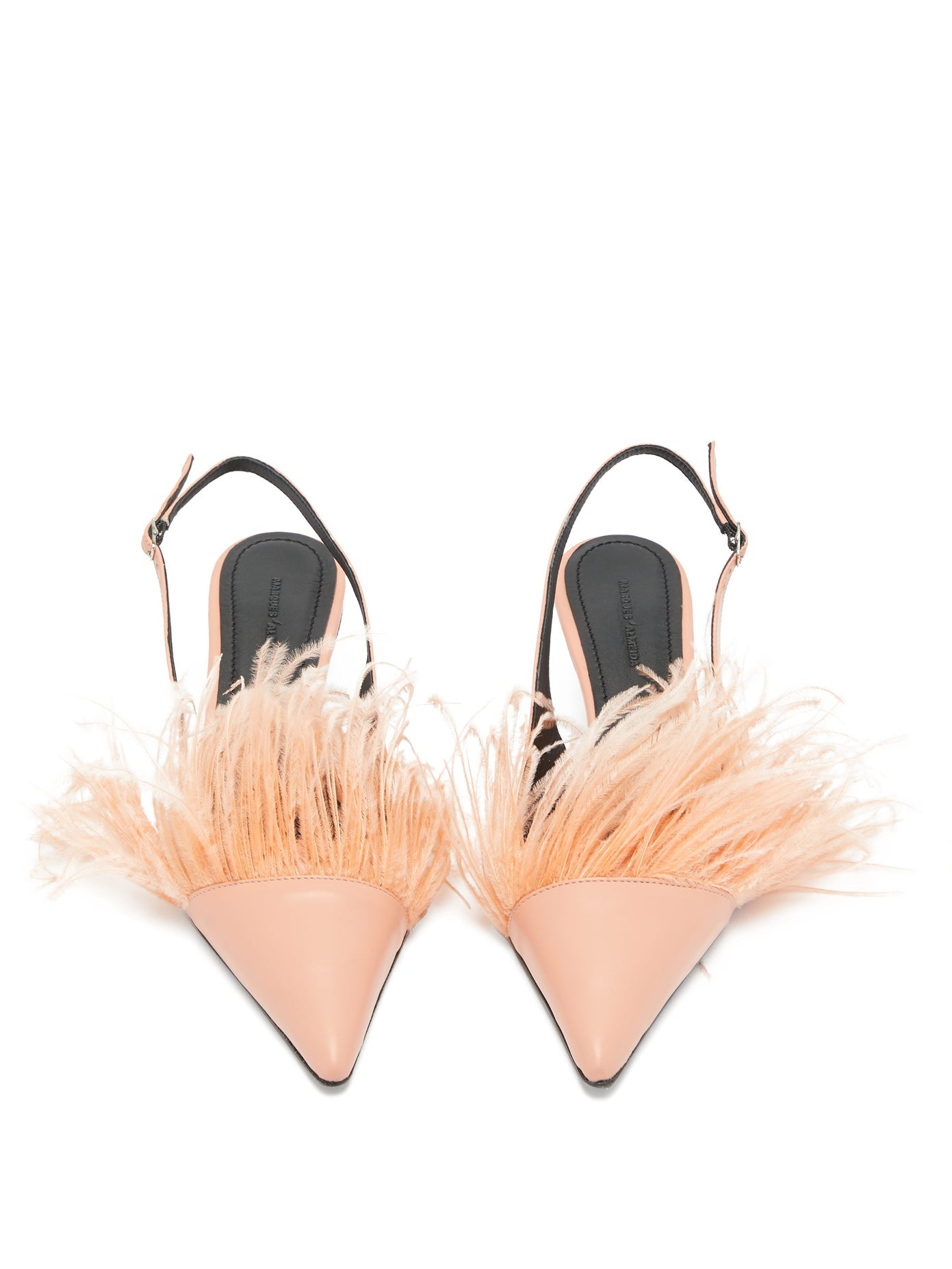 PINK FEATHER SLIPPERS