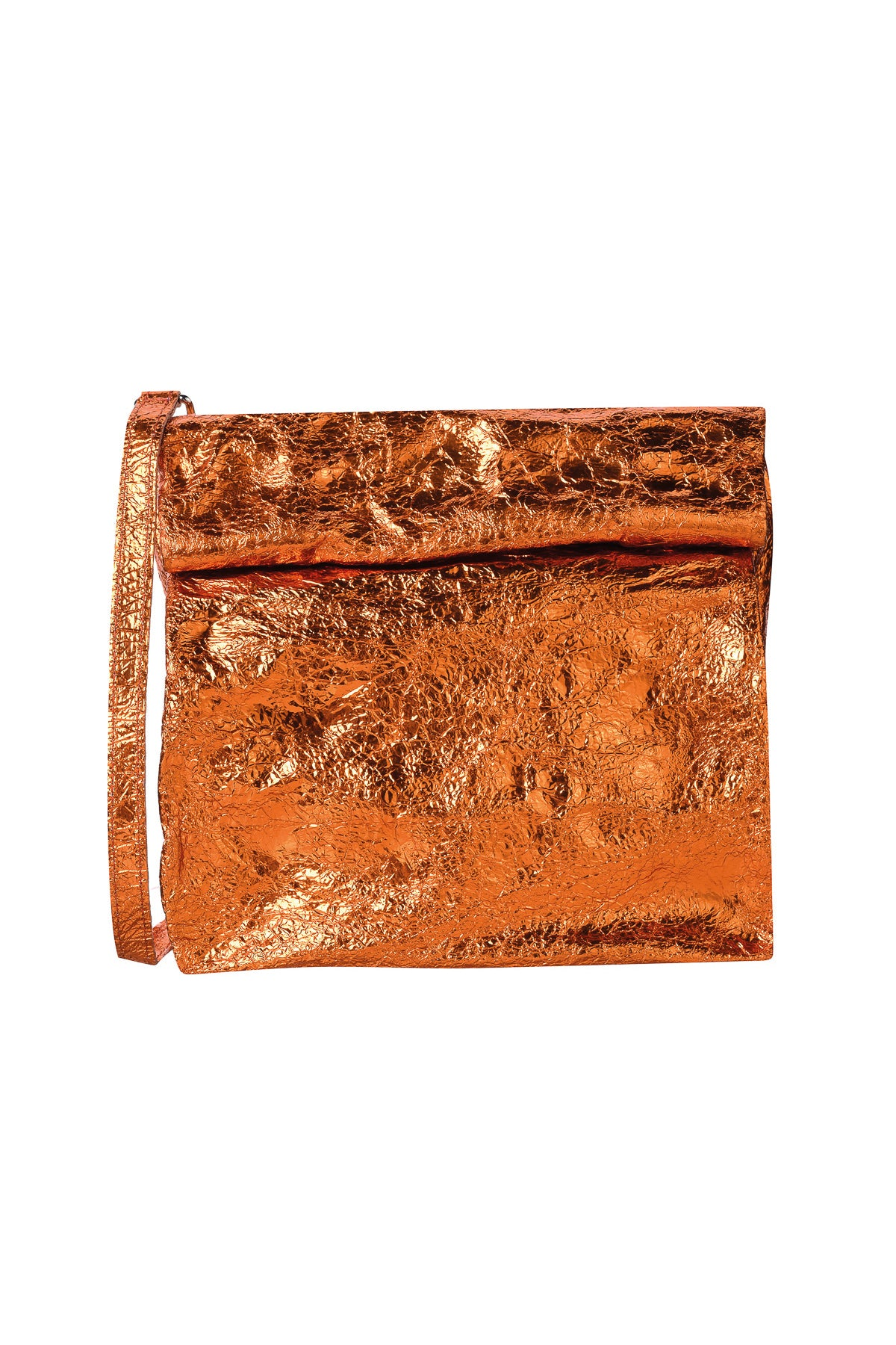ORANGE LEATHER PAPER BAG - marques-almeida-dev