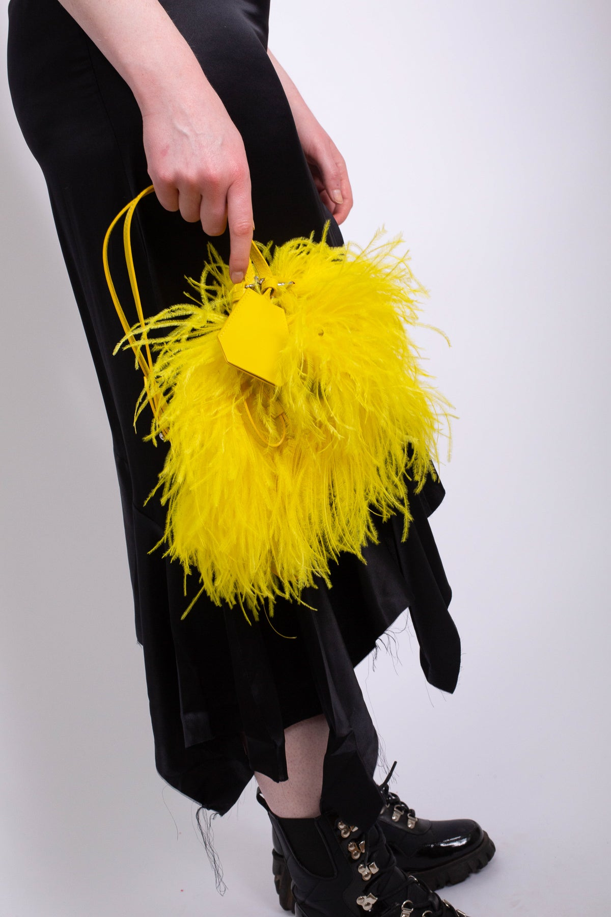 M'A YELLOW FEATHER BAG - marques-almeida-dev