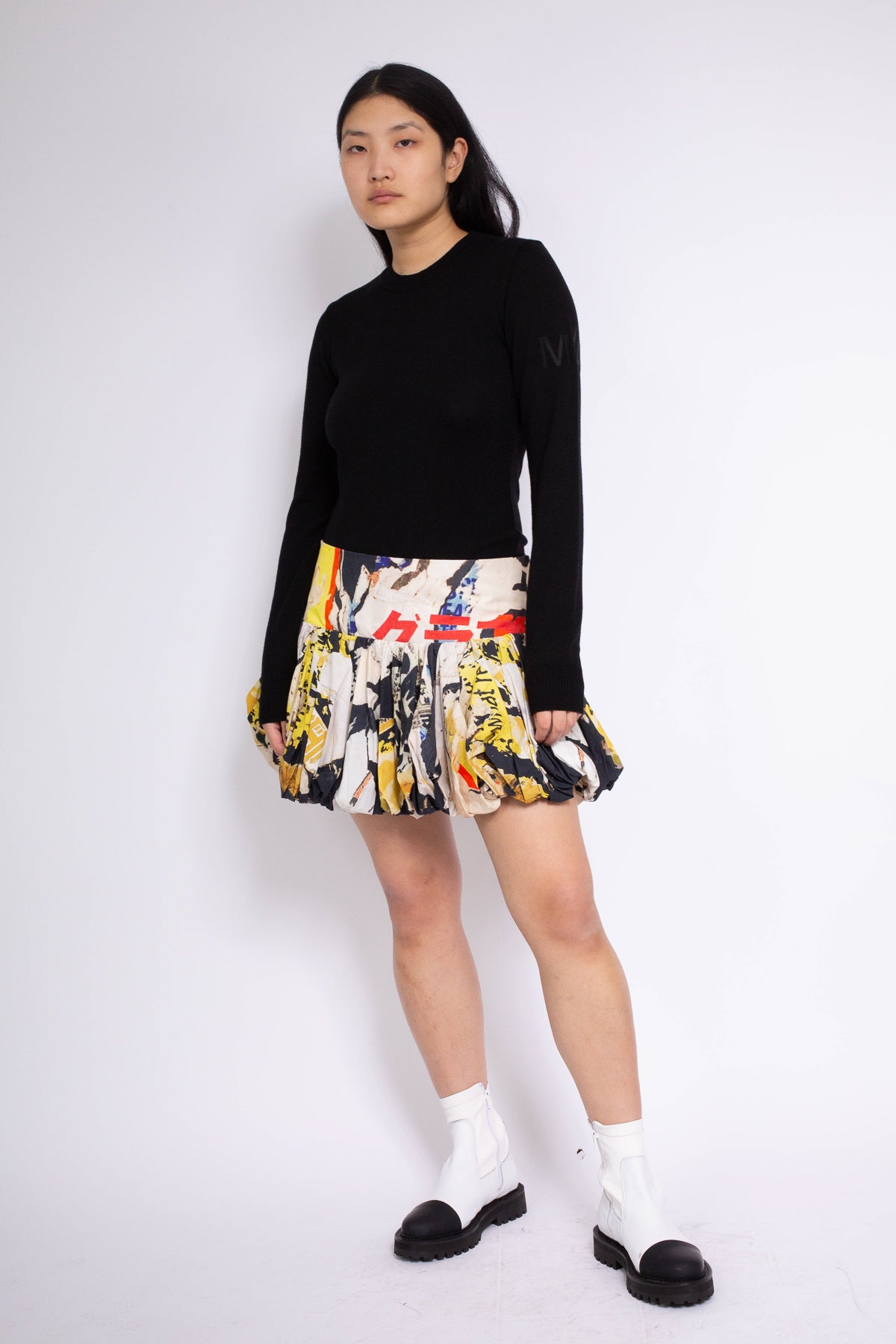 PRE-OWNED / POSTER PRINT PUFF MINI SKIRT - marques-almeida-dev