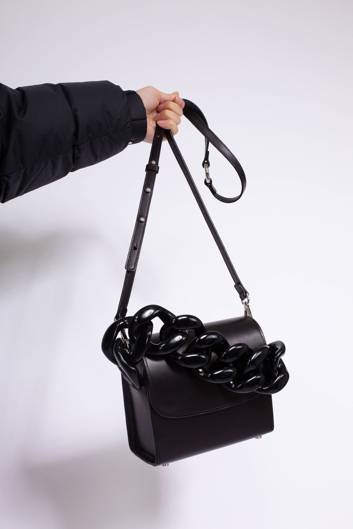 CLASSIC M'A BLACK CHAIN BAG - marques-almeida-dev