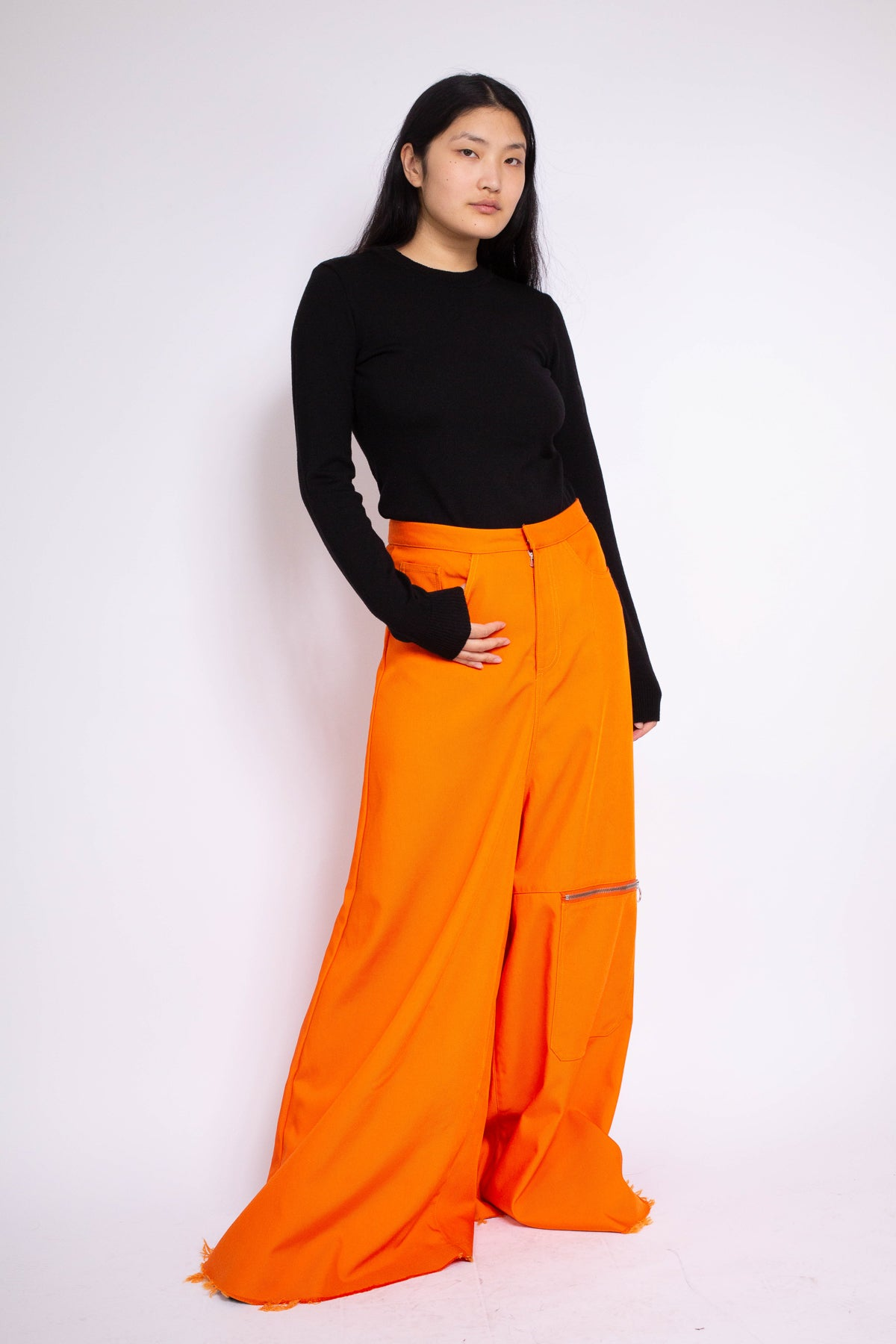 PRE-OWNED / OVERSIZED RUST DRILL TROUSERS - marques-almeida-dev
