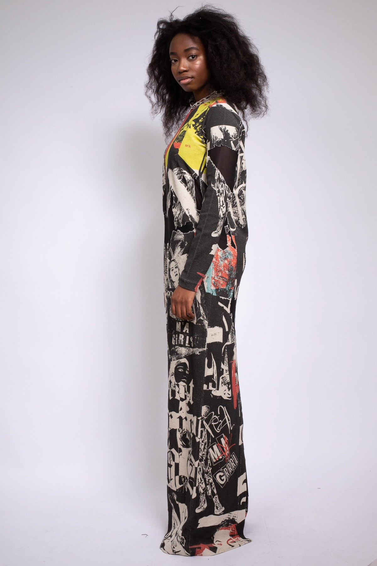 FLEECE DEVORE MAXI DRESS