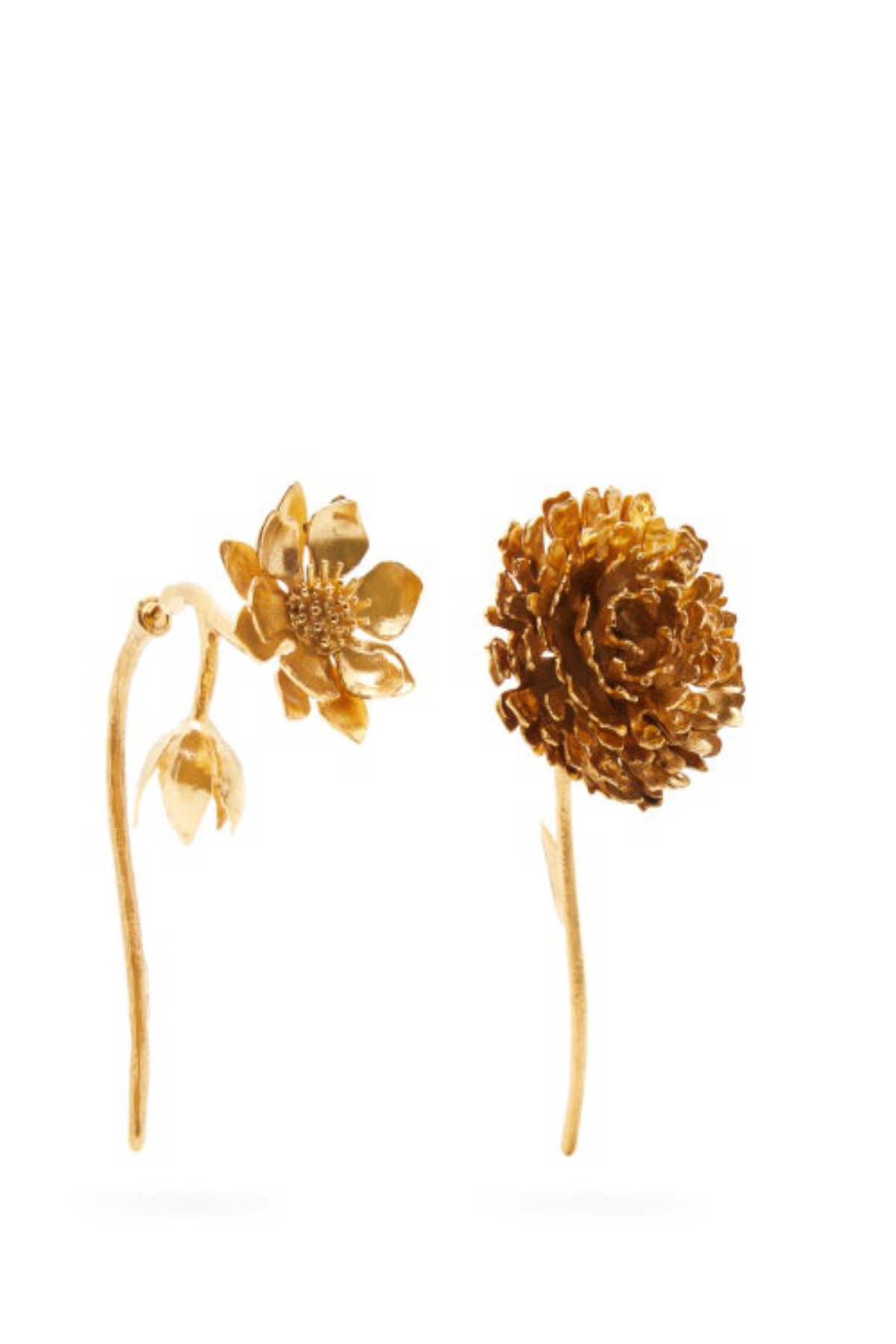 GOLD FLOWER EARRINGS - marques-almeida-dev