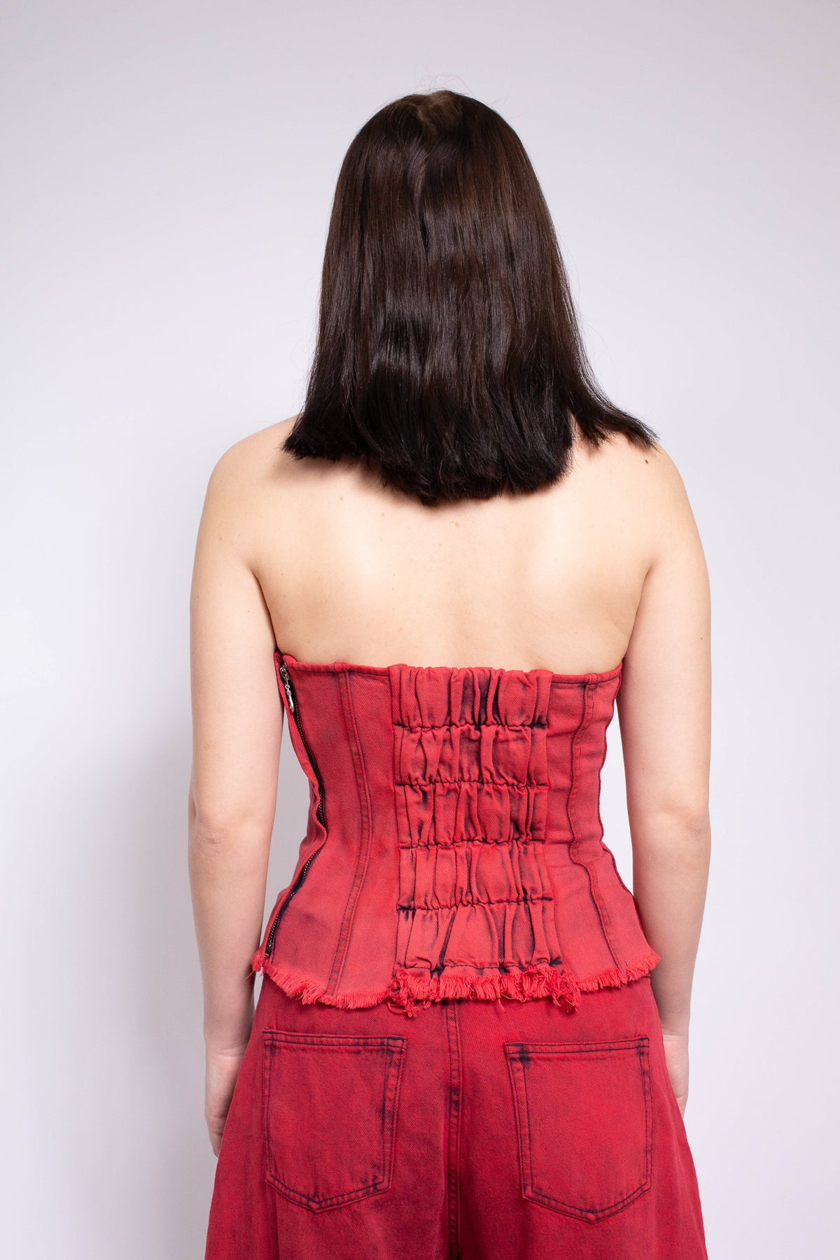 RED BRA CUP CORSET