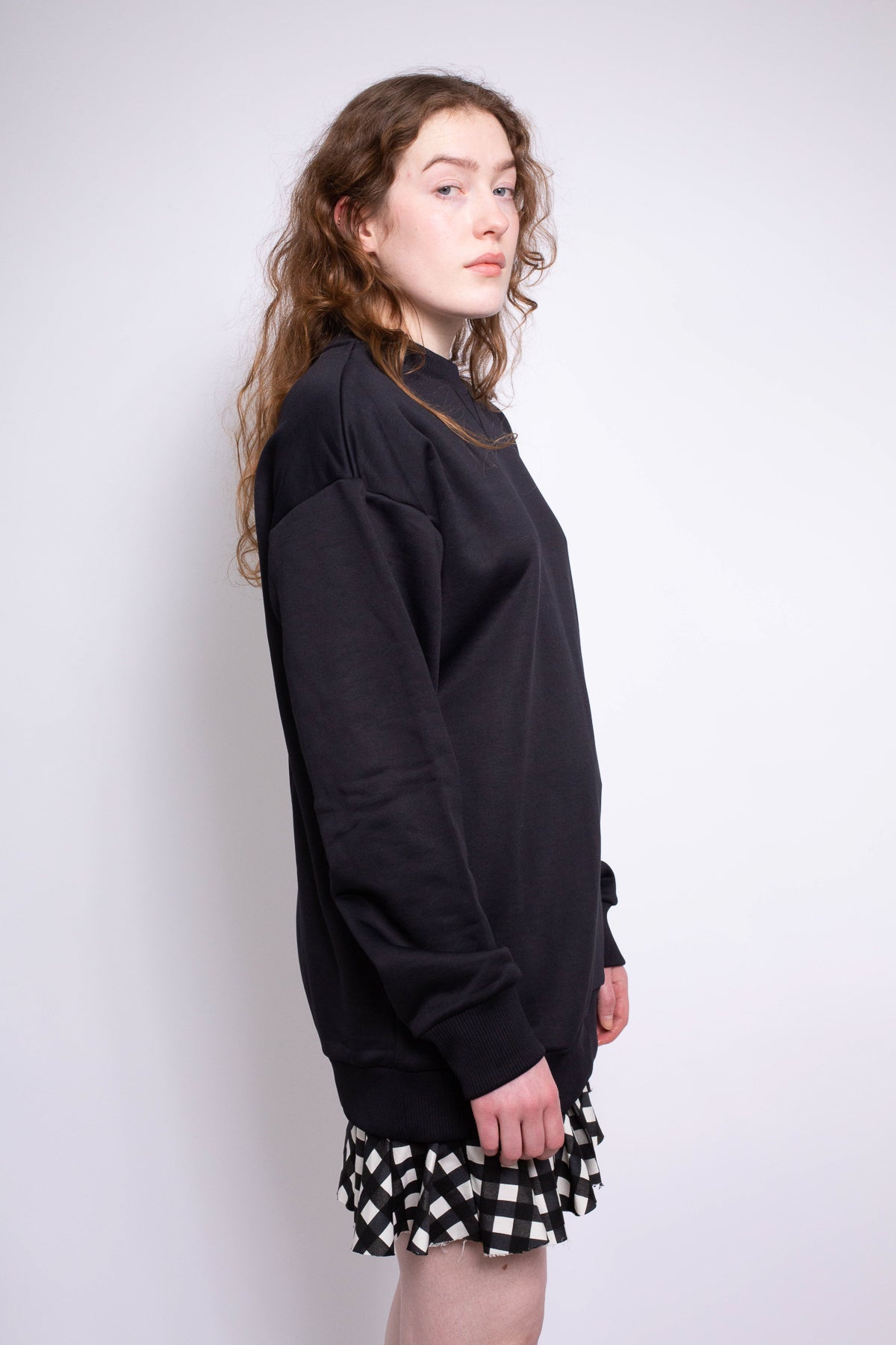 BLACK OVERSIZED SWEATSHIRT - marques-almeida-dev