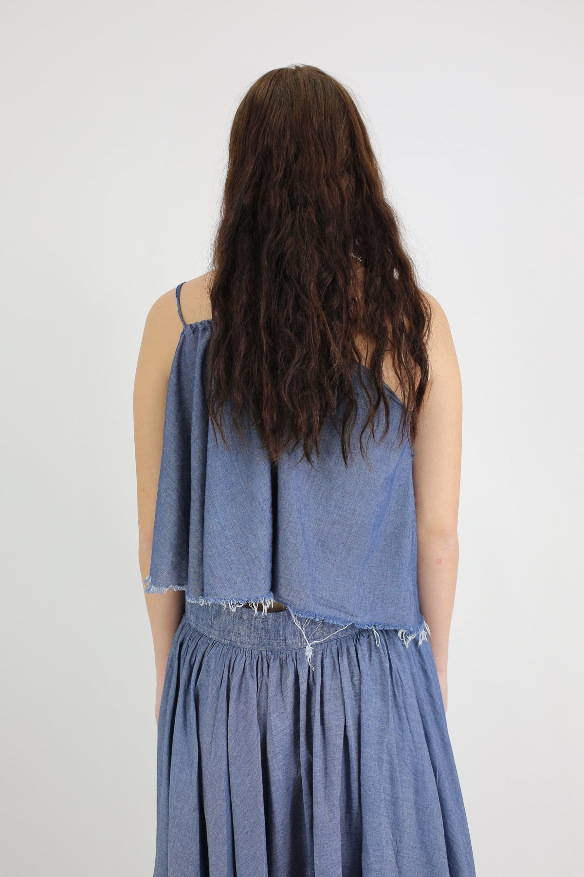PRE-OWNED / BLUE ONE SHOULDER FRILL TOP - marques-almeida-dev