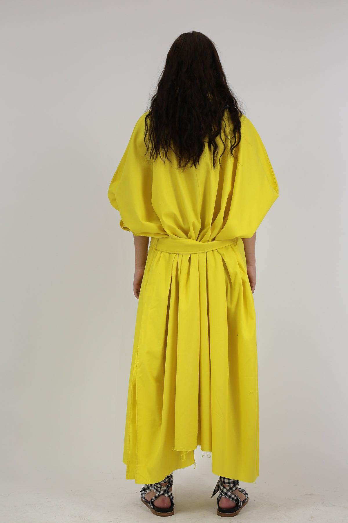 YELLOW COTTON RECTANGLE TUNIC DRESS - marques-almeida-dev