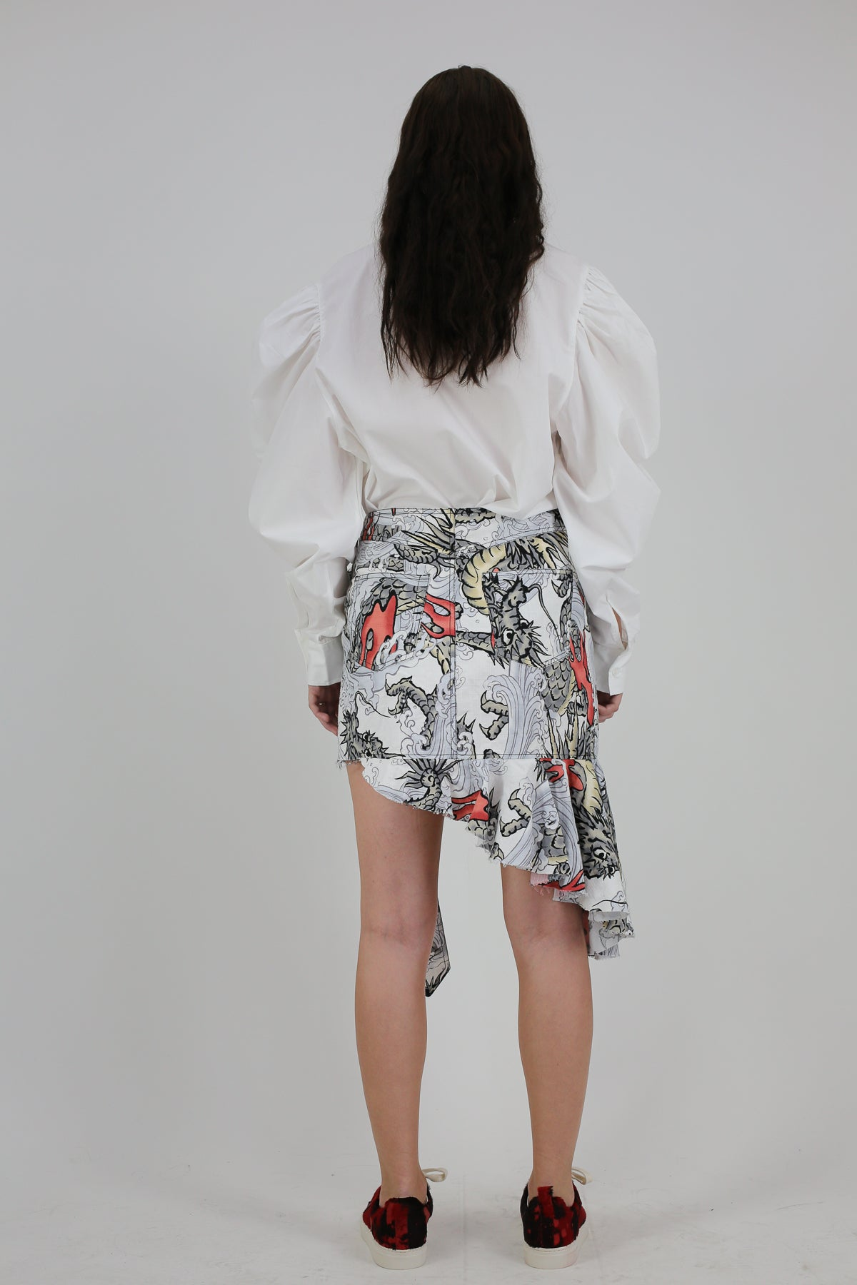 PRE-OWNED / DRAGON PRINT BUCKLE SKIRT - marques-almeida-dev