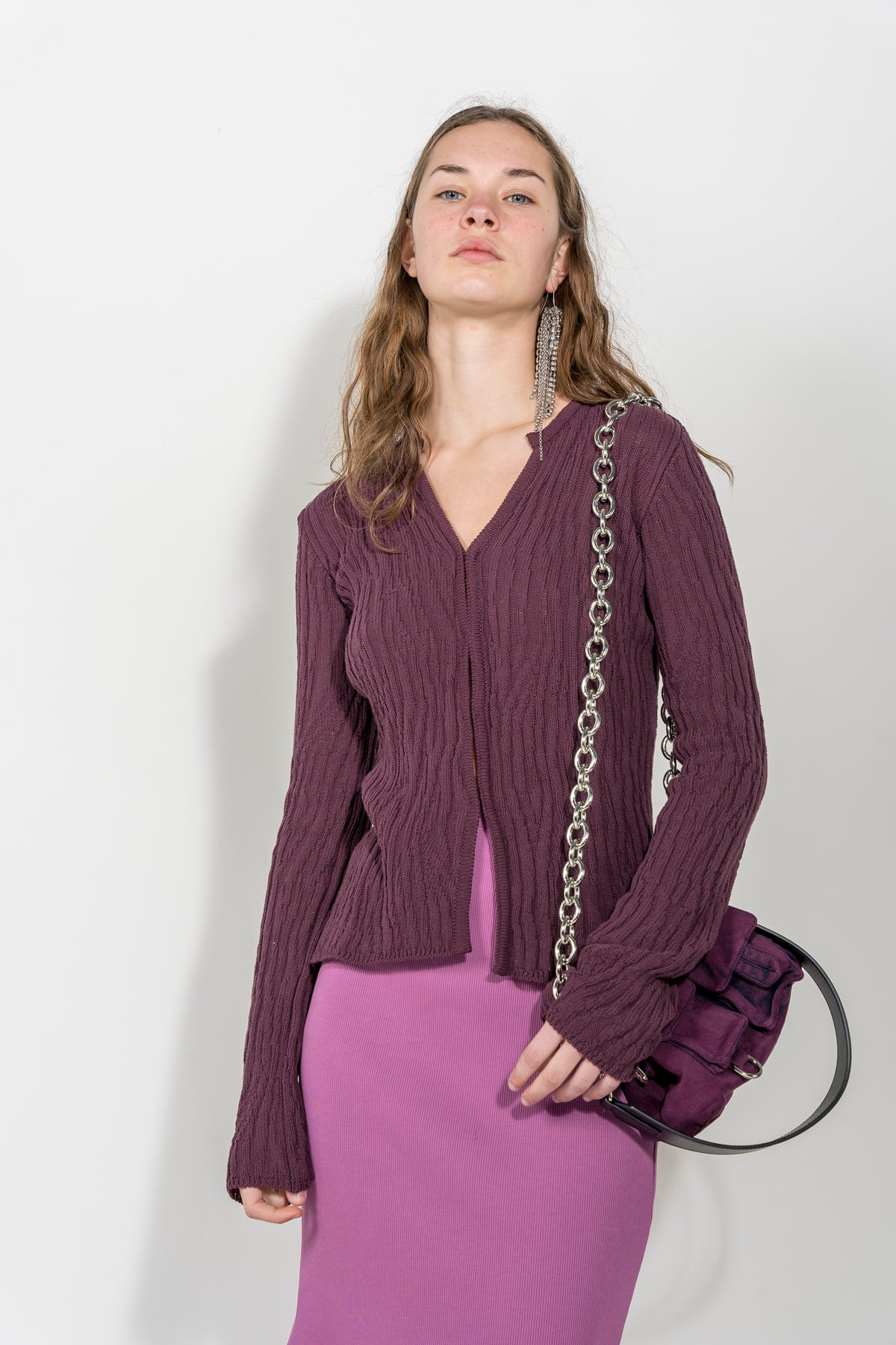 AUBERGINE DENIM BAG MARQUES ALMEIDA