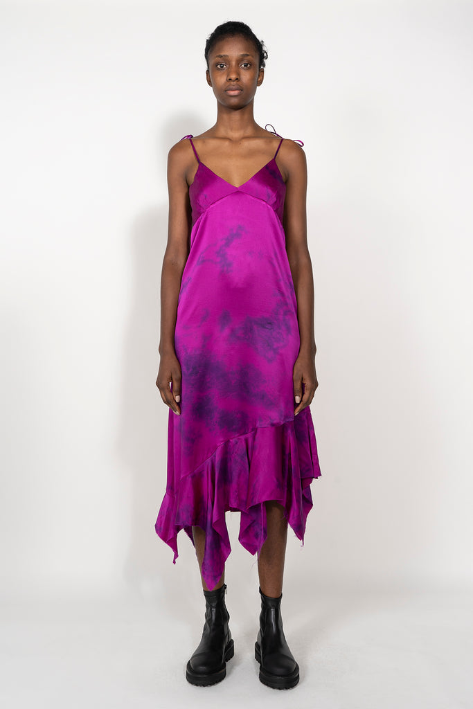 SILK PINK TIE DYE DRESS