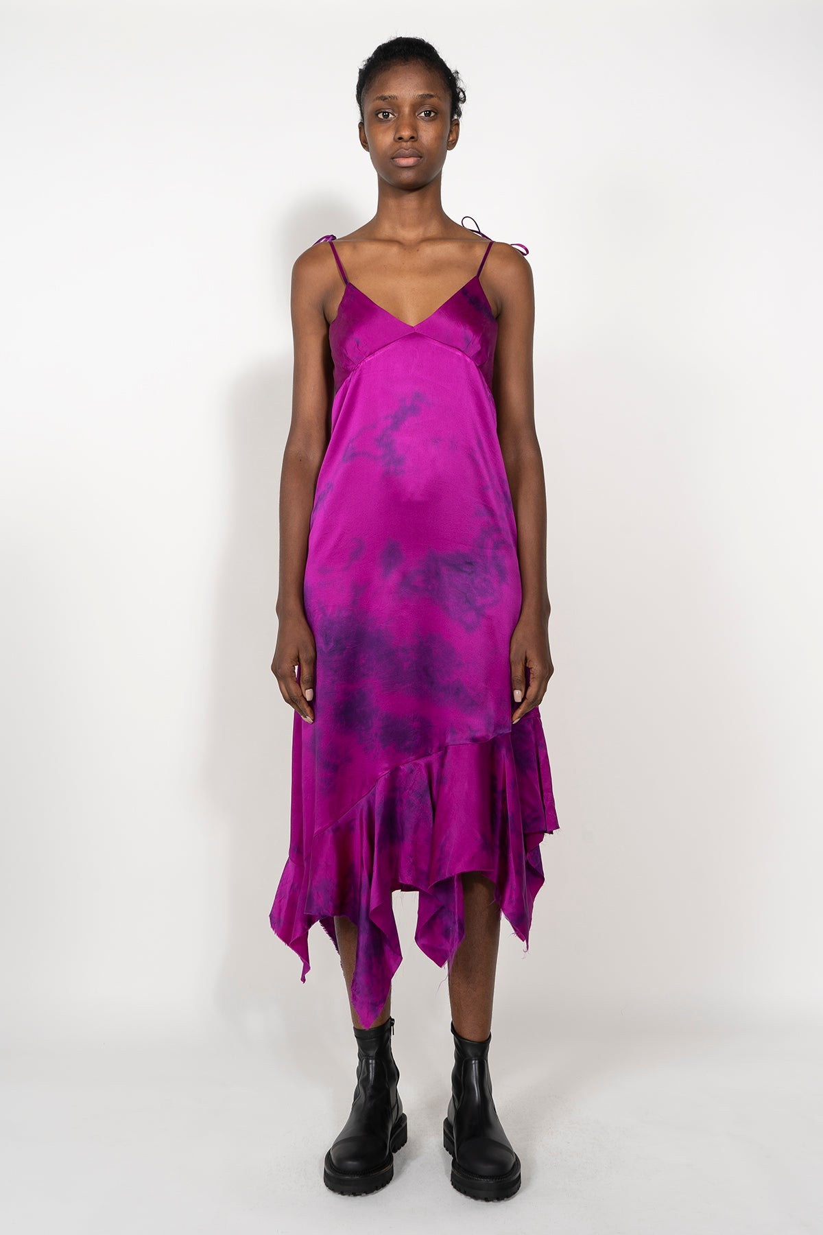 SILK PINK TIE DYE DRESS - marques-almeida