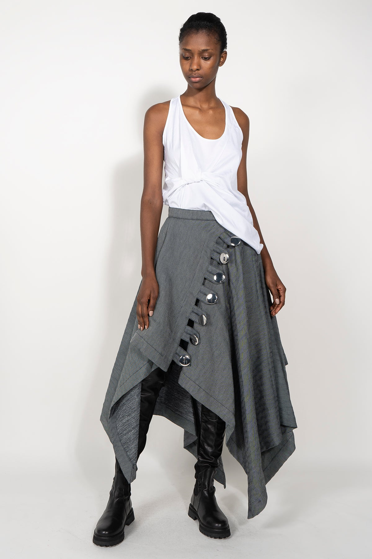 marques almeida  PRE-OWNED / Denim Rectangle Skirt With front Button